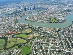 Brisbane Australia from above