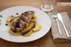 Receta de solomillo de cerdo al horno con salsa de vino, mostaza y miel