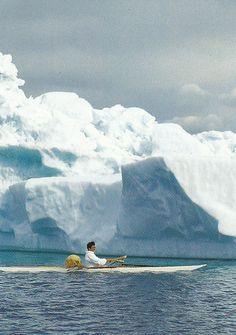 Greenland kayaking among icebergs #kayak #kayaker #kayaking #kayaks
