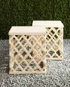 """""""Moroccan"""" Garden Seat at Horchow."""