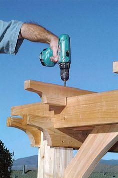 How to Build a Pergola - DIY Building a Pergola - Popular Mechanics