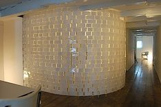painted glass brick igloo divider