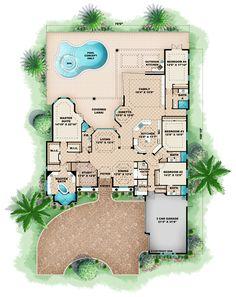 Florida House Plan ID: chp-46804 - COOLhouseplans.com