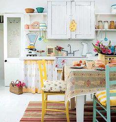 Colorful, retro kitchen