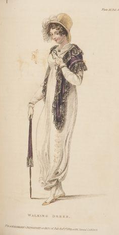 Ackermann's Repository, Walking Dress, October 1809.