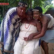 New photos of Chika Ike and Francis Duru on set of a new Nigerian traditional movie. #Nollywood