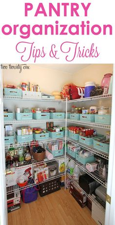 GREAT pantry organization tips and tricks!