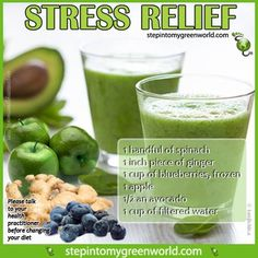 ☛ Do YOU know how dangerous #stress is for you? It can lead to many illnesses and even heart attacks. Take control of your health! This smoothie is packed with stress fighting ingredients. FOR ALL THE DETAILS: http://bit.ly/OK7CFk ✒ Share | Like | Re-pin | Comment #StepIntoMyGreenWorld #STEPin2 #Health