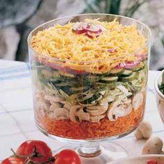 Harvest Layered Salad Recipe | Taste of Home Recipes