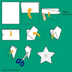 Illustration for making the 5-pointed stars