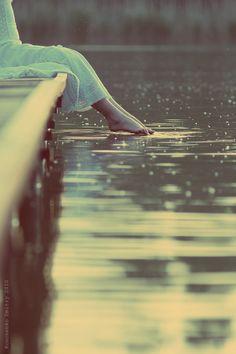 gently falling raindrops