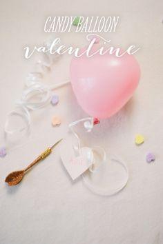 Candy balloon valentine
