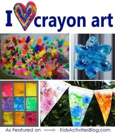Lots of crayon art ideas!