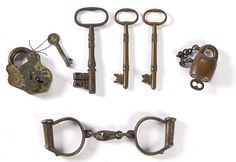 Civil War Keys and shackles