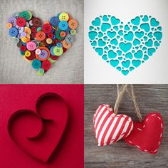 Make your Valentine's Day hearts stand out by using new and different materials and crafting techniques. (via xacto.com)