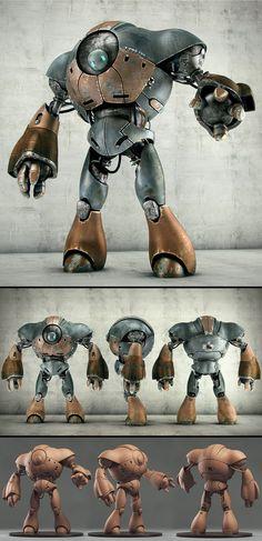 Robot by Victor Hugo Sousa join us http://www.pinterest.com/koztar 3d robot, robot design, robot drawing