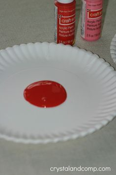 acrylic paint for making homemade valentine cards for kids