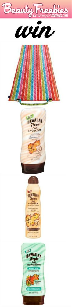 We Have a New Giveaway! #Win a Hawaiian Tropic Prize Pack! #suntan #beach #sweeps VALID UNTIL AUGUST 5