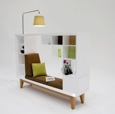 Library- bookcase/seat/room divider - by Guy Eddington at Coroflot.com