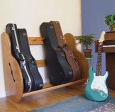 This is a red oak version of our Studio Studio™ Deluxe Guitar Case Rack available at http://www.guitarstorage.com/shop/studio-deluxe-guitar-case-rack/