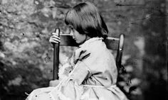 The Real Alice...Alice Pleasance Liddell taken by Charles Dodgson aka Lewis Carroll from the National Portrait Gallery London viaguardian.co.uk  Photography #Lewis_Carroll #Alice_in_Wonderland