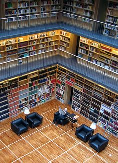 Sala di lettura della Biblioteca della Duchessa Anna Amalia - Weimar, Germania