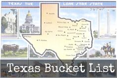 Texas Bucket List - a list of must do's in texas  tx vacation, destination in texas