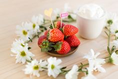 Find recipes for delicious strawberries and cream and herrings in mustard - both traditional Swedish Midsommar recipes. Yum!