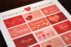 Free printable Valentine's Day cards - great for romance on a budget!