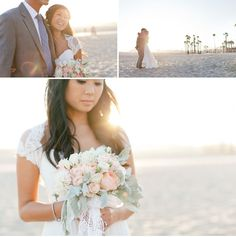 Santa Monica Beach Wedding: Christina + Kenny