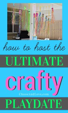 Host a fun afternoon of upcycled, crafty projects. Printable tutorials for juice box windsocks and juice box sailboats. #cbias #shop #ultimateplaydate #crafts #diy