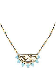Urban Beaded Necklace // geometric jewelry design