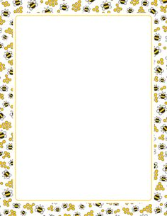 A page border with bees and honeycombs. Free downloads at http://pageborders.org/download/bee-border/