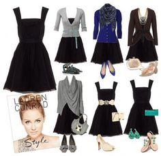 Accessories transform black dress for any occasion