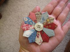 Inspiration on blog.     Mini dresdens made for a quilt with embroidered dresdens on it. So many cute things on the blog!