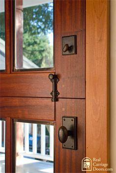 Closeup of dutch door