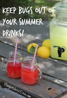 How to Keep Bugs Out of Your Summer Drinks