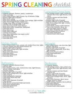 Spring Cleaning Checklists - Ask Anna