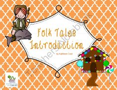 Introduction to Folk Tales SmartBoard lesson and brochure from Staying Cool in the Library on TeachersNotebook.com -  (16 pages)  - Simple introduction to the types of folk tales.