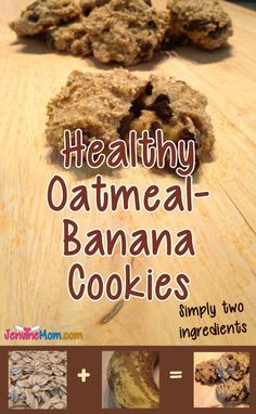 Healthy Oatmeal-Banana Cookies: You Need Just Two Ingredients! | Recipe at JenuineMom.com