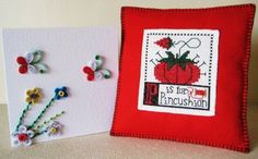 Prairie Schooler pincushion