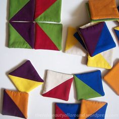 Fabric Tanagram Puzzle sewing tutorial