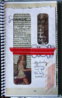 art journal, smashbook, journal pages, window envelop