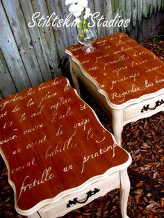French Poem Tables ~ Love these!