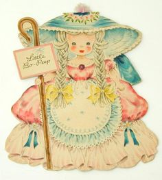 Hallmark Land of Make Believe Paper Doll Card Bo Peep
