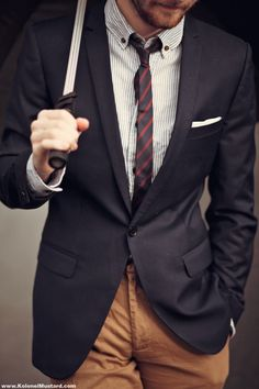 Button down & skinny tie