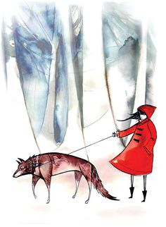 little red ridinghood greeting card by esan01