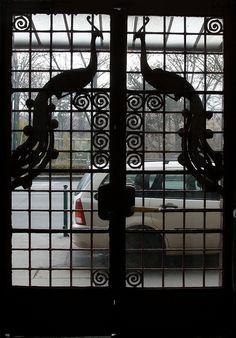Budapest, Art Nouveau peacock door