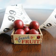 Miniature Wooden Fruit Crate - vintage style