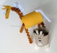 Cardboard Tube Horse and Goat: The Farm Series - Crafts by Amanda